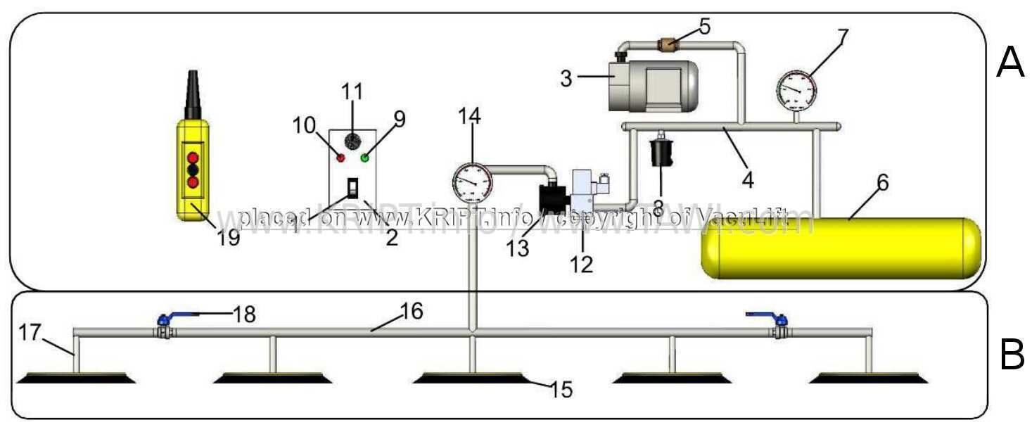 Схема подъёмника.