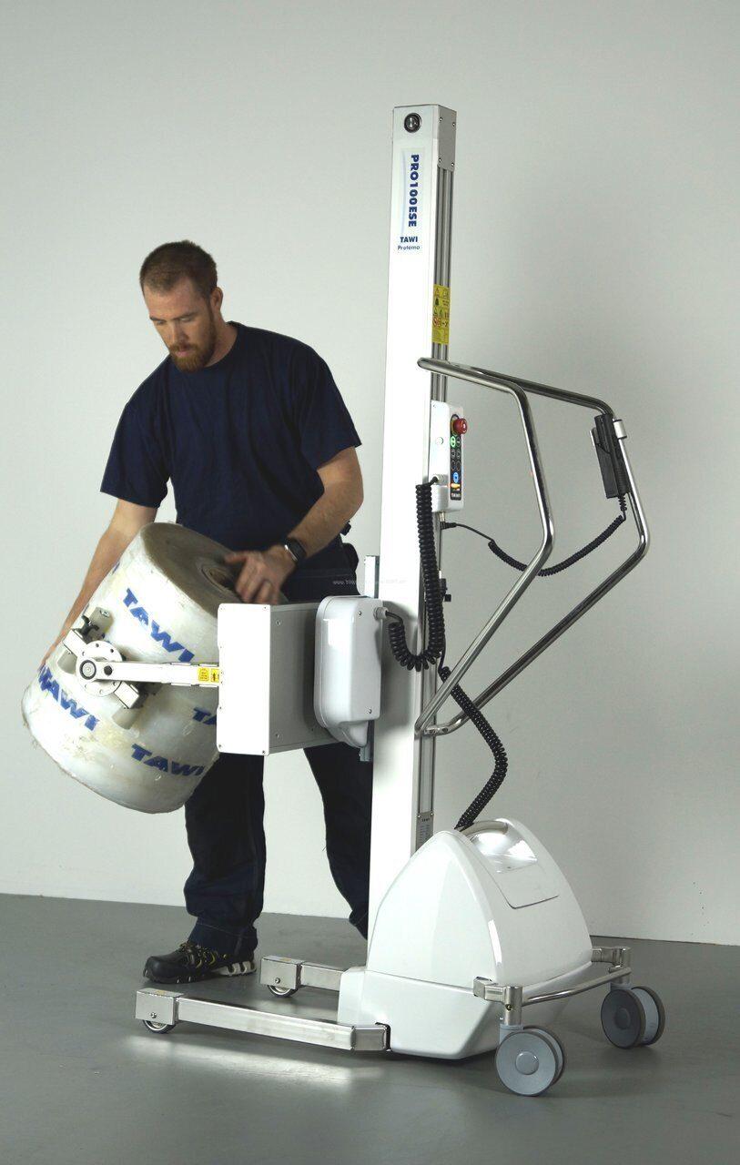 Тележка-подъёмник рулонов с функцией разворота